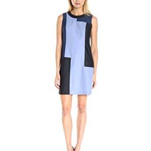 Calvin Klein Sleeveless color block A-line dress